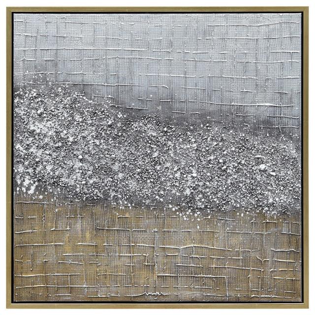 Matter Abstract Textured Metallic Hand Painted Wall Art by Martin Edwards