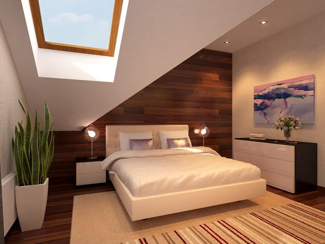 Bedroom contemporary-rendering