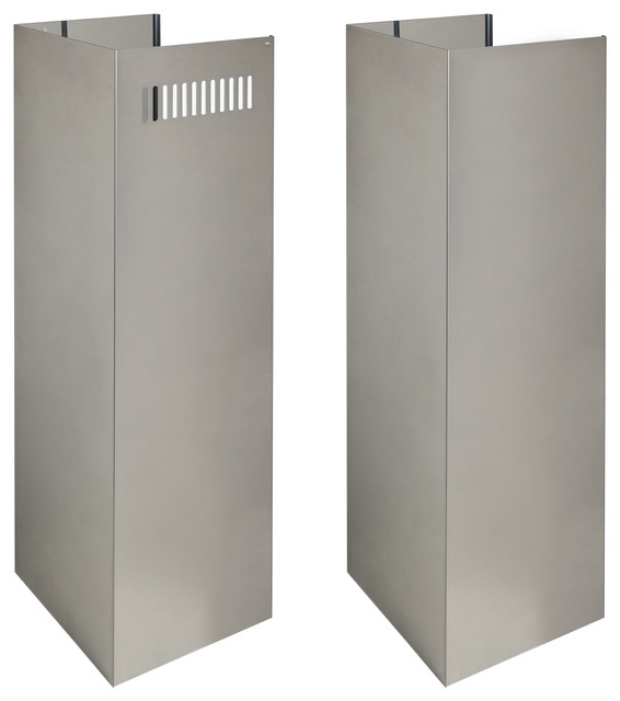 """Zline 2pcext-Gl9i, 2-36"""" Chimney Extensions For 10&x27; - 12&x27; Ceilings."""