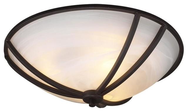 3-Light Ceiling Light Highland Collection, Bronze.