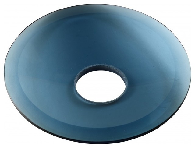Replacement Waterfall Faucet Blue Glass Disc Plate.