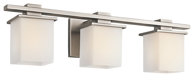 Contemporary Bathroom Vanity Lights kichler tully 3-light antique pewter vanity - contemporary