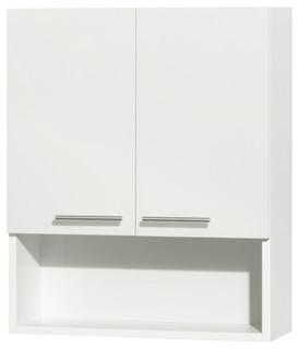 Amare Wall-Mounted Storage Cabinet, 2 Door, White