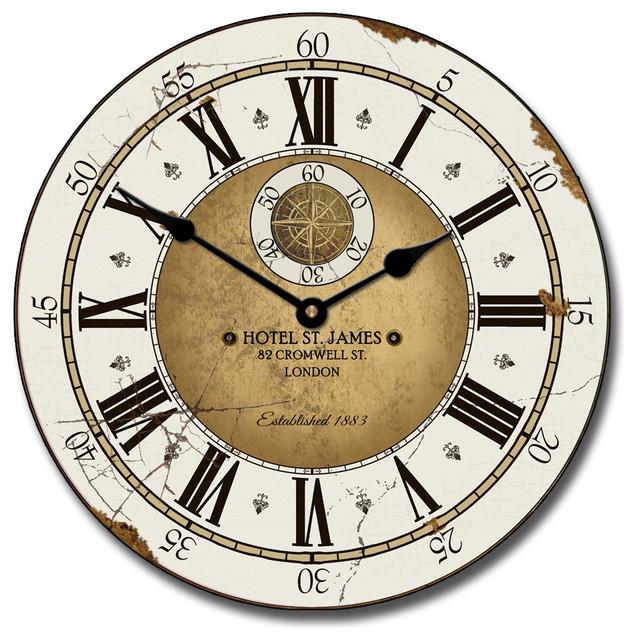 St James Hotel London Clock Farmhouse Wall Clocks By