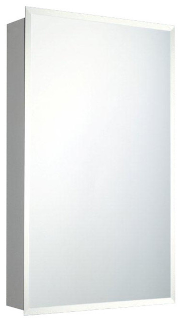 "Kai Mirrored Bathroom Cabinet, Beveled Edge, Surface Mounted, 16""x22""."