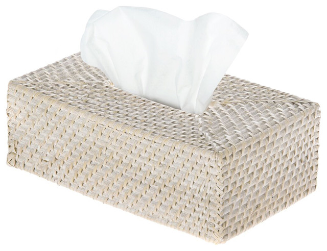Laguna Rectangular Rattan Tissue Box Cover White Wash beach-style-tissue- box  sc 1 st  Houzz & Laguna Rectangular Rattan Tissue Box Cover White Wash - Beach ... Aboutintivar.Com