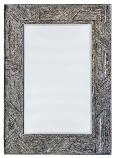Uttermost Fortuo Mahogany Wood Mirror.