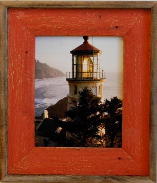 85 x 11 barn wood document frame lighthouse red distressed wood frame wood picture frames - Document Frames 85 X 11