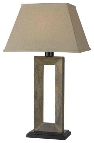Egress 1-Light Outdoor Lamps, Natural Slate.