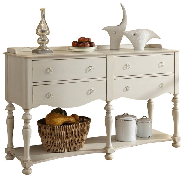 Riverside Furniture Placid Cove Server in Honeysuckle White traditional- buffets-and-sideboards - Riverside Furniture Placid Cove Server In Honeysuckle White