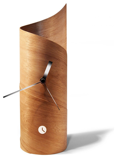 Tothora Surf Table Clock Contemporary Desk And Mantel Clocks