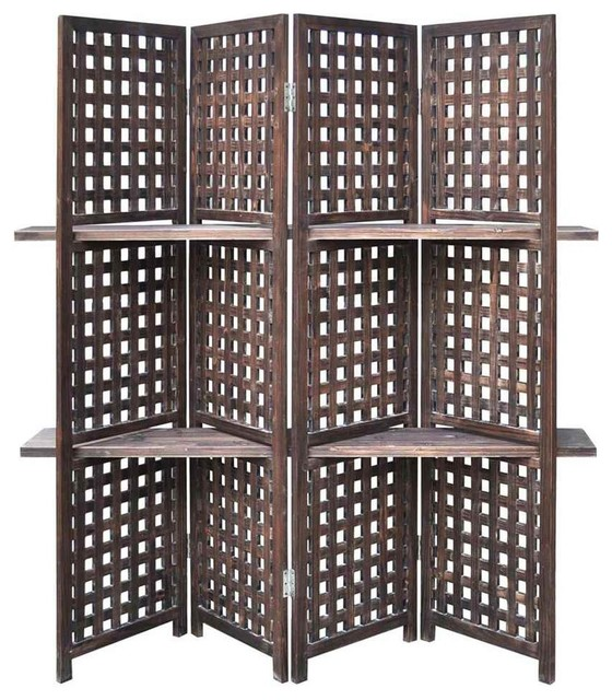 Rustic Lattice Work Room Divider screens-and-room-dividers - Rustic Lattice Work Room Divider - Screens And Room Dividers Houzz