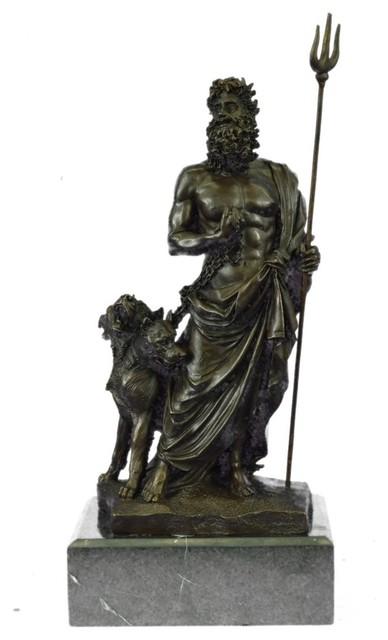 Bronze Sculpture Signed Phidias Pluto Zeus And Poseidon