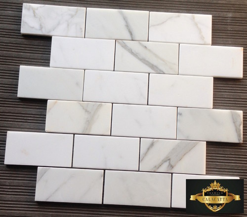 Honed or polished calacatta gold backsplash Italian marble backsplash