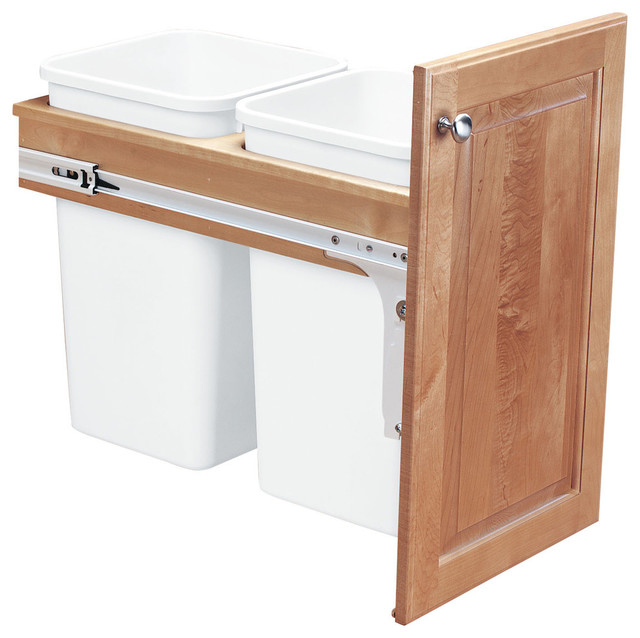 Pull Out Top Mount Wood, Frameless Cabinet, 50qt.