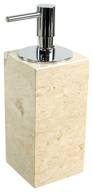 beige marble soap dispenser