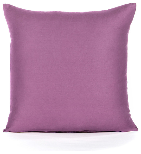 Solid Purple Decorative Pillows : Solid Sateen Purple Accent, Throw Pillow Cover - Contemporary - Decorative Pillows - by Silver ...