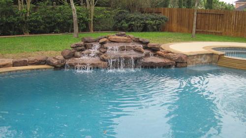 New pool build katy tx for Pool design katy