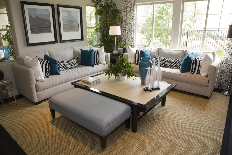 Warm Contemporary Living Area