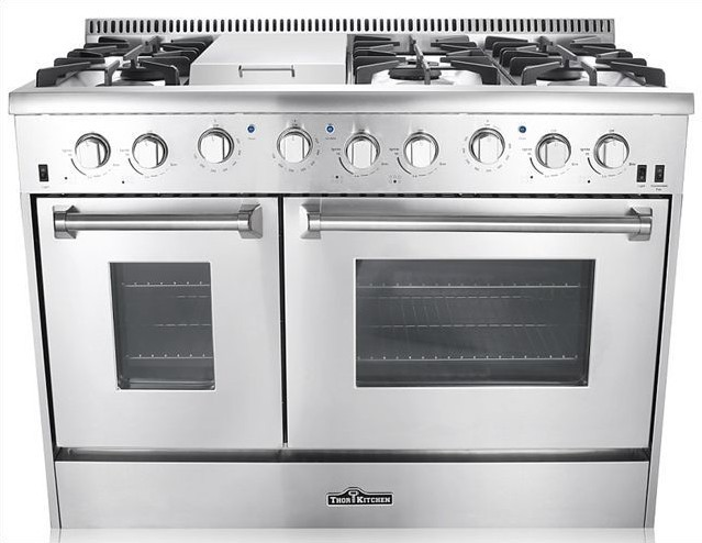 48 Dual Fuel Range 6 Burner With Griddle And Double Oven