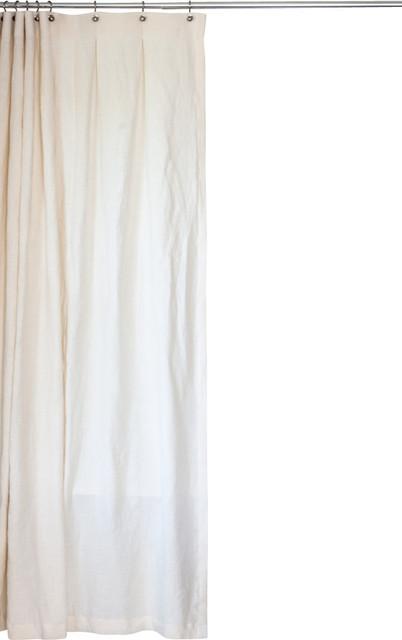 Extra Long Hemp Shower Curtain Transitional Shower Curtains