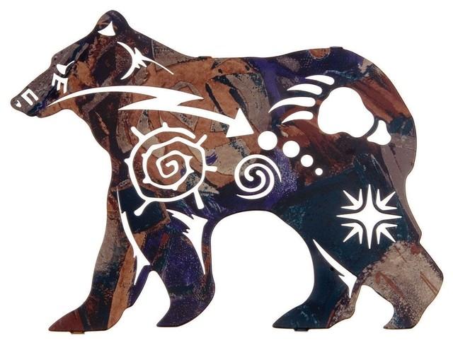New Spirit Bear Wildlife Metal Wall Art Rustic Artwork