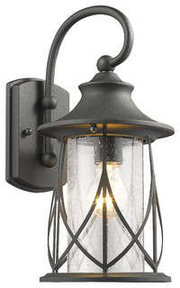 Chloelighting 8 75 Transitional Outdoor Wall Sconce Black View In Your Room Houzz