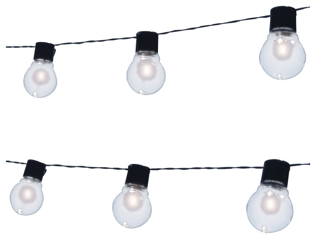 Exterior Solar String Lights : Solar Edison Patio String Lights - Transitional - Outdoor Rope And String Lights - by Touch of ECO