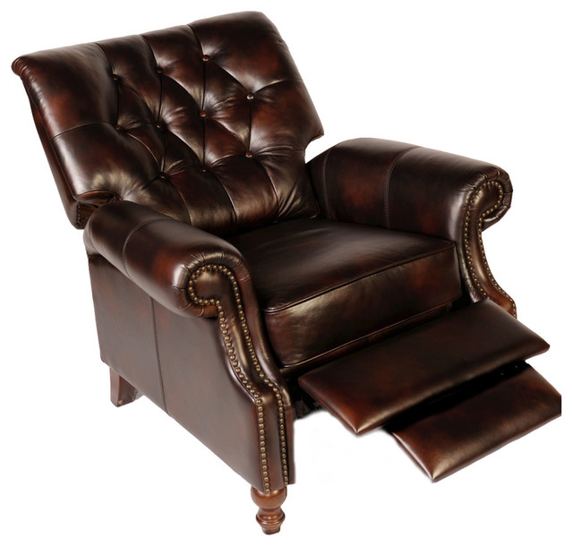 Lazzaro Leather Philip Tufted Back Recliner traditional-recliner-chairs  sc 1 st  Houzz & Lazzaro Leather Philip Tufted Back Recliner - Traditional ... islam-shia.org
