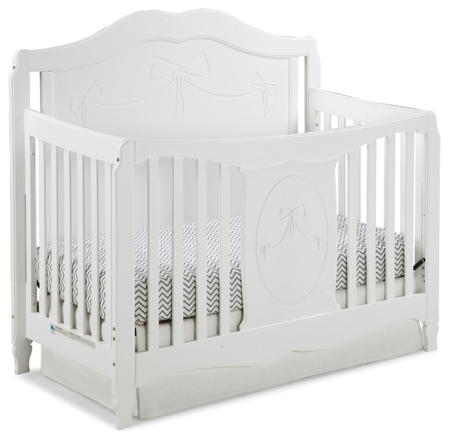 Storkcraft Princess 4-in-1 Convertible Crib, White - Transitional ...