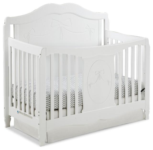 storkcraft princess 4in1 convertible crib white