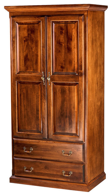 Forest Designs Traditional Antique Wardrobe With Two