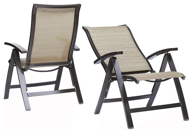 Patio Folding Chairs With 6 Adjustable Angles Outdoor Lounge Chair
