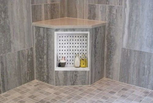 Can A Shower Niche Be Built Into A Corner Bench Seat Pros