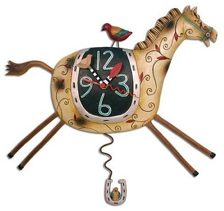 Horse Play Pendulum Wall Clock by Allen Designs - Wall Clocks - by ...