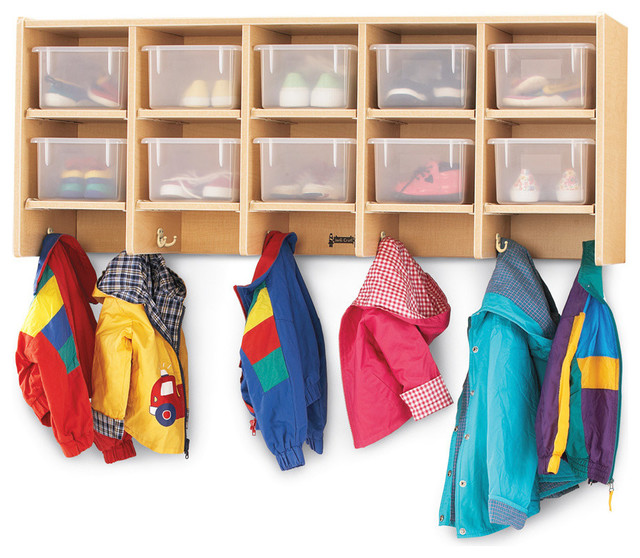 MapleWave 10 Section Wall Mount Coat Locker, With Clear ...