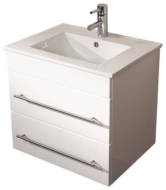 Emotion Milet Bathroom Furniture, 60.5 cm, White High-Gloss