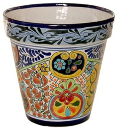 Mexican Talavera Flower Pot 10 Quot Diameter Large