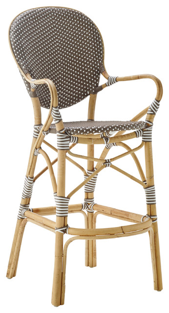Brilliant Mariam French Country Brown Rattan Outdoor Bar Stool Ncnpc Chair Design For Home Ncnpcorg