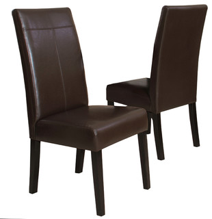 Fitzgerald Dining Chairs, Set of 2, Chocolate Brown