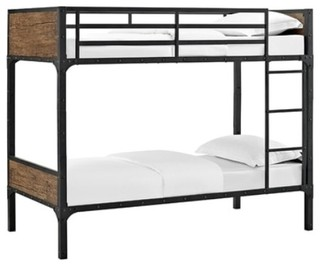 Meyers Rustic Twin Over Twin Bunk Bed