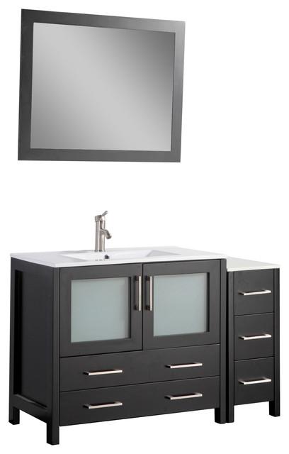 Henri Bathroom Vanity With Ceramic Top, Espresso, 48.