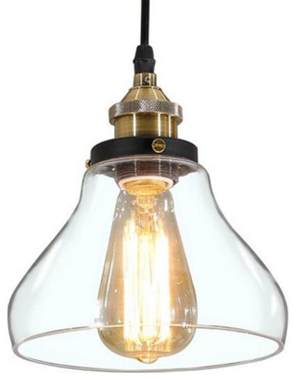 Vintage Industrial Clear Glass Pendant Lamp Light