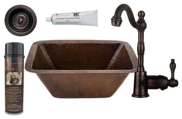 Rectangle Copper Bar/prep Sink.