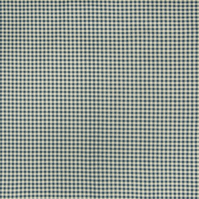 Chambray Blue Check Houndstooth Cotton P Upholstery Fabric By The