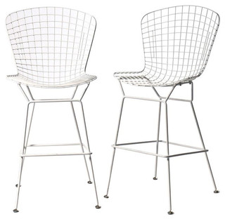 Sold Out Pair Of Bertoia Style Bar Stools In White 400 Est Retail 240 O Contemporary Bar Stools And Kitchen Stools on garden conservatory furniture