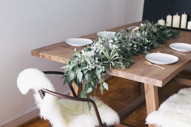 Diy Eukalyptus Girlande Fur Eine Winterliche Tischdeko