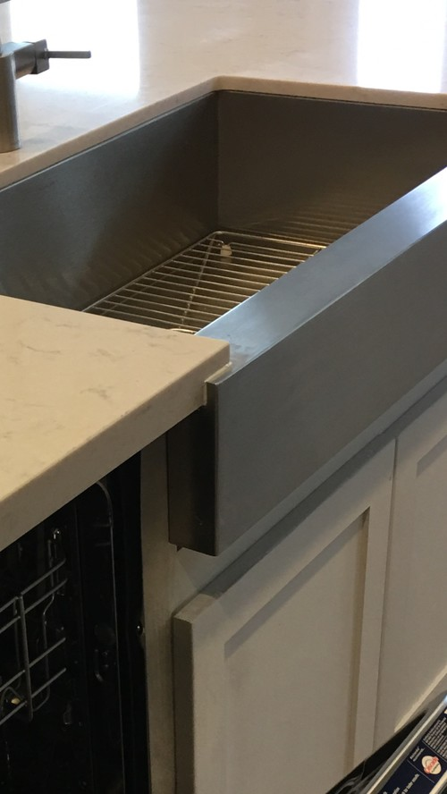 that there are weird grout lines on our apron front sink is it installed incorrectly or is this what itu0027s supposed to look like see attached photos