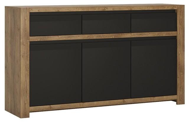 3-Door 3-Drawer Sideboard, Lefkas Oak