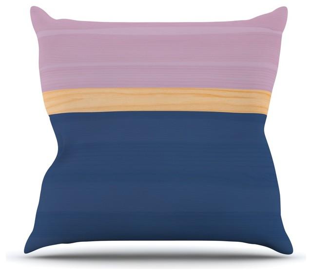 Blue And Lavender Throw Pillows : KESS InHouse - KESS Original